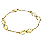 Multiple Infinity Bracelet in Silver with Gold Plating