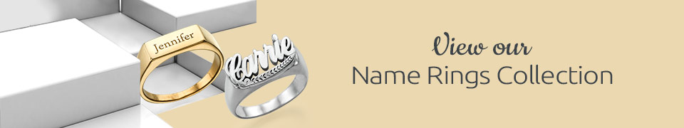 gold name personalized plate silver products driftwood unique or signature monogram rings ring sterling nameplate