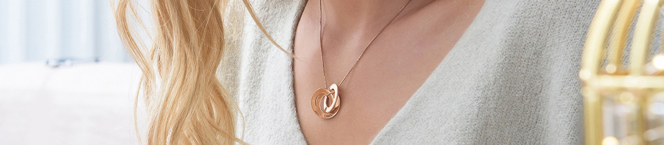 Personalized Rose Gold Plated Jewelry