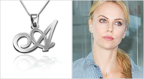 Initial Necklace Charlize Theron