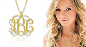Monogram Necklace Taylor Swift