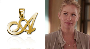 Initial Necklace Christina Applegate