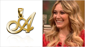 Initial Necklace Hilary Duff