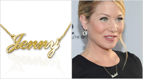Name Necklace Christina Applegate