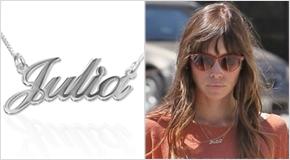 Name Necklace Jessica Biel