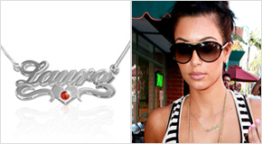 Name Necklace Kim Kardashian