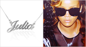 Name Necklace Rihanna