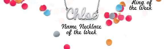 Script Name Necklace in Silver