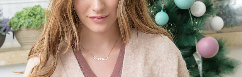 Gold Plated Name Necklace