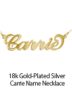 18k Gold-Plated Silver Carrie Name Necklace