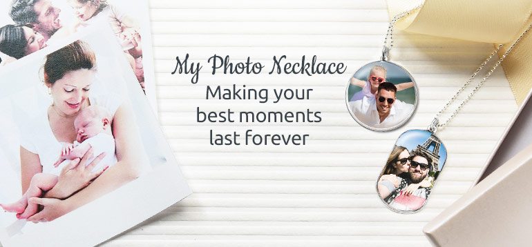 custom photo necklace - MyNameNecklace